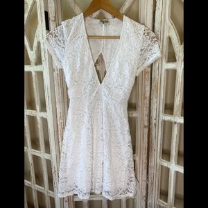Show me your mumu small fit and flare dress lace